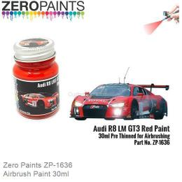 ZERO PAINTS 1636 Audi R8 LM GT3 Red Paint 30ml