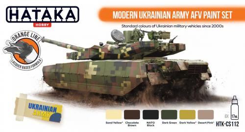 CS112 Modern Ukrainian Army AFV paint set 6x 17ml