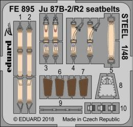 EDUARD ZOOM 1/48 Ju 87B-2/R2 Stuka seatbelts STEEL for AIRF
