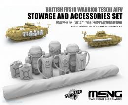 MENG 1/35 British FV510 Warrior TES(H) AIFV Stowage and Accessories Set ( resin)