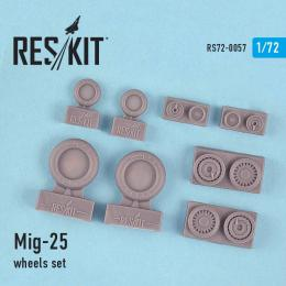 RESKIT 1/72 MiG-25 Wheels set for ICM