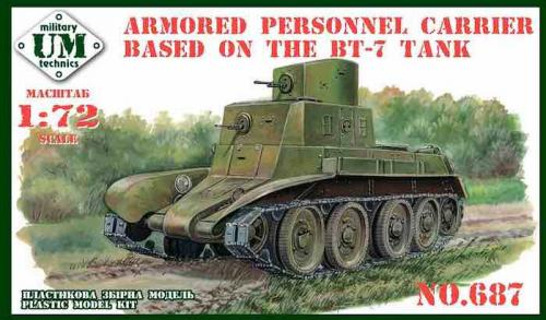 UM 1/72 Armored Personnel Carrier based on BT-7 tank