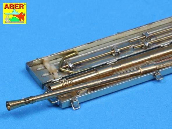 ABER 1/35  35L-089 Set of 2 German 2cm L/65 gun barrel for Flak 38 with storage box - zvìtšit obrázek