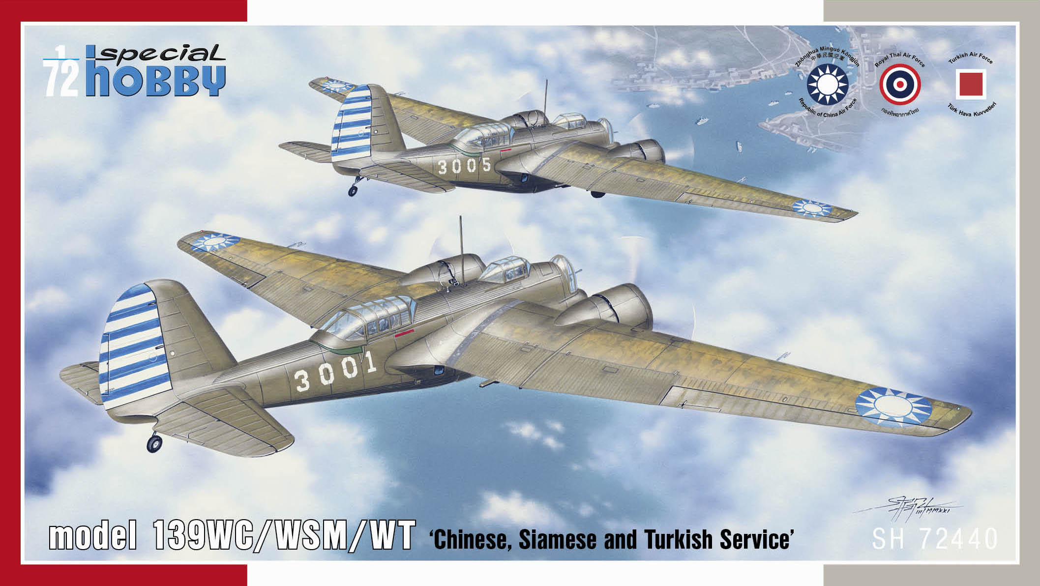 SPECIAL HOBBY 1/72 Model 139WC/WSM/WT Chinese, Siamese and Turkish Service - zvìtšit obrázek