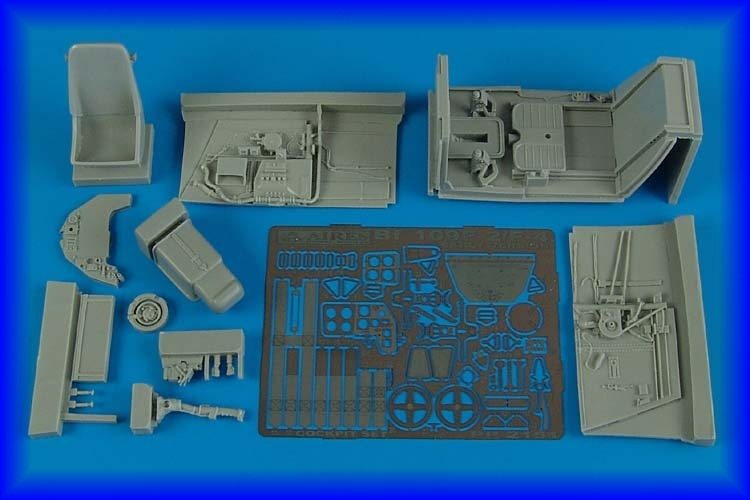 AIRES 1/32 Bf 109F-2/F-4 early cockpit set  for HAS - zvìtšit obrázek