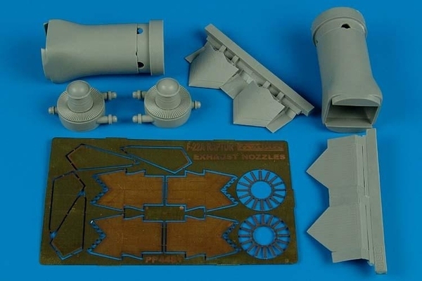 AIRES 1/48 F/A-22 Raptor exhaust nozzles - closed (for Hasegawa) - zvìtšit obrázek