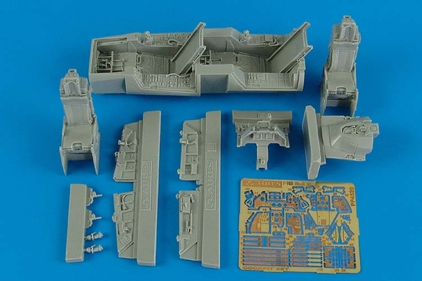 AIRES 1/48 F-16B Fighting Falcon cockpit set (for Kinetic) - zvìtšit obrázek