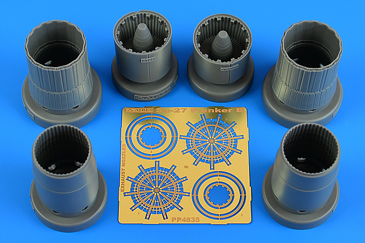 AIRES 1/48 Su-27 Flanker B exhaust nozzles for KTH - zvìtšit obrázek