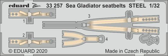 EDUARD SET 1/32 Sea Gladiator seatbelts STEEL for ICM - zvìtšit obrázek