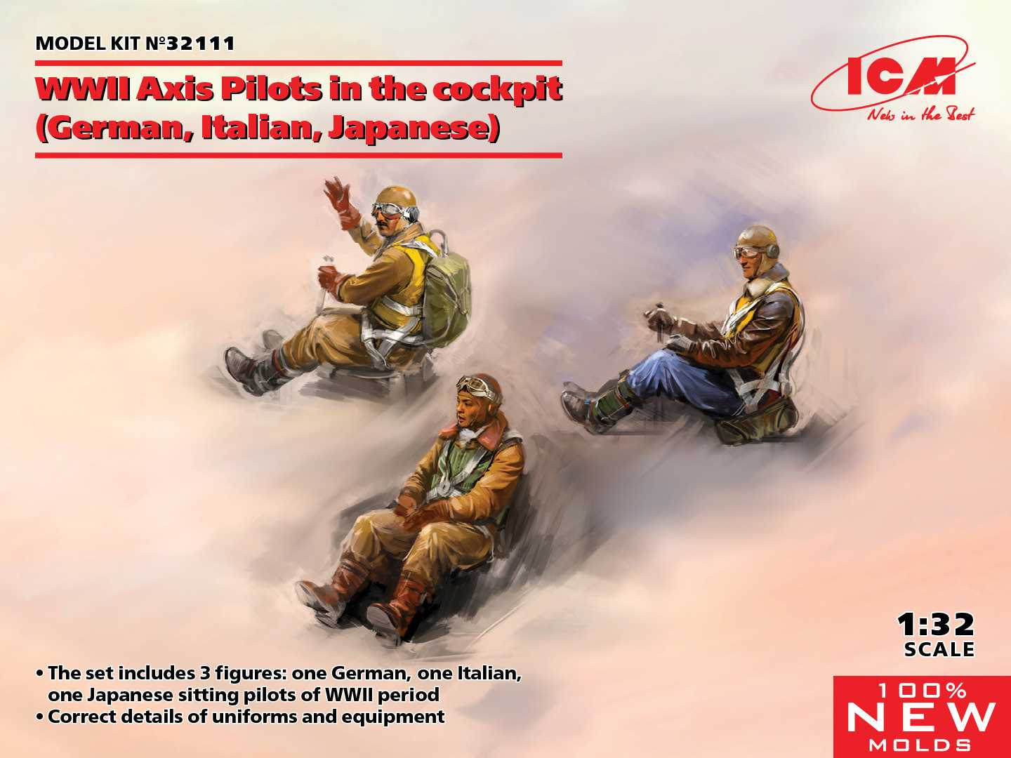 ICM 1/32 WWII Axis Pilots in the cockpit 3 fig - zvìtšit obrázek