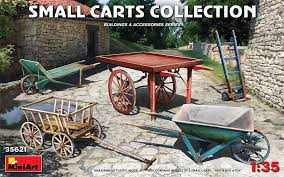 MINIART 1/35 Small Carts Collection 5 pcs - zvìtšit obrázek