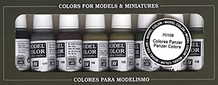 VALLEJO 70108 Panzer Colors Set Model Color 8x17ml - zvìtšit obrázek